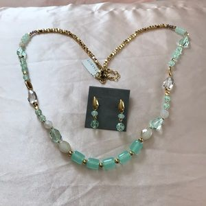 NWT Talbots matching necklace and earrings set